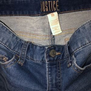 Justice Bottoms - Girls justice jean shorts. Size 16